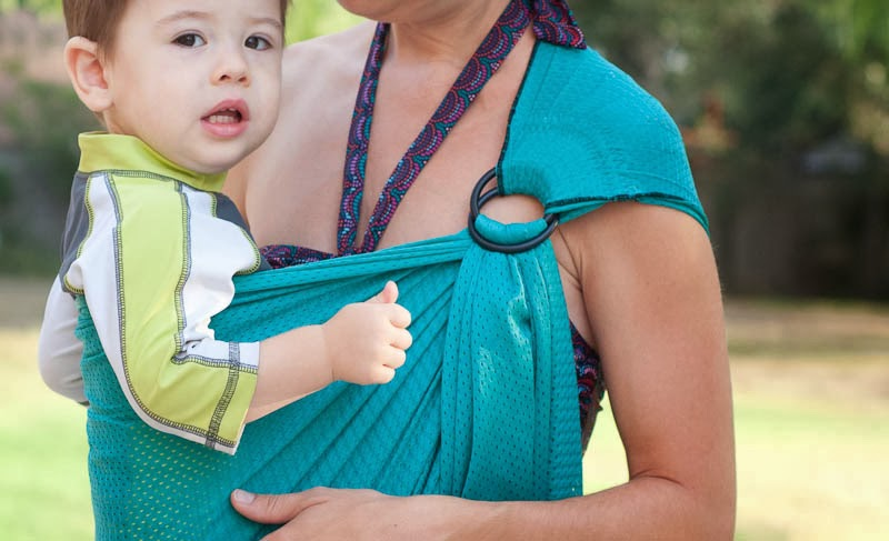 6bba659c6bd Sleeping Baby Productions Mesh Water Ring Sling vs Zanytoes Splash Water  Carrier Review